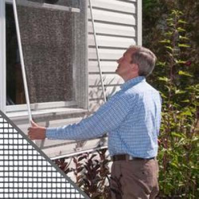 36 in. x 84 in. Bright Aluminum Window Screen