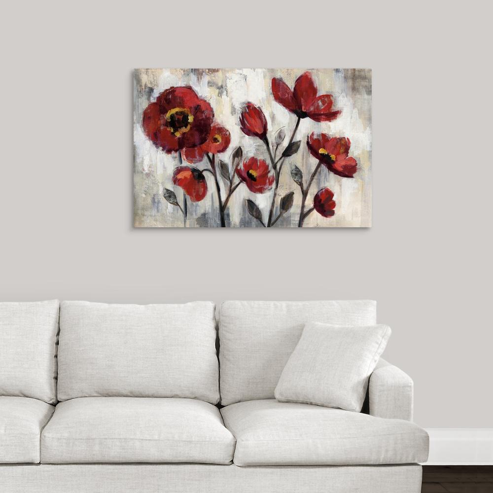 GreatBigCanvas ''Floral Simplicity'' by Silvia Vassileva Canvas Wall Art