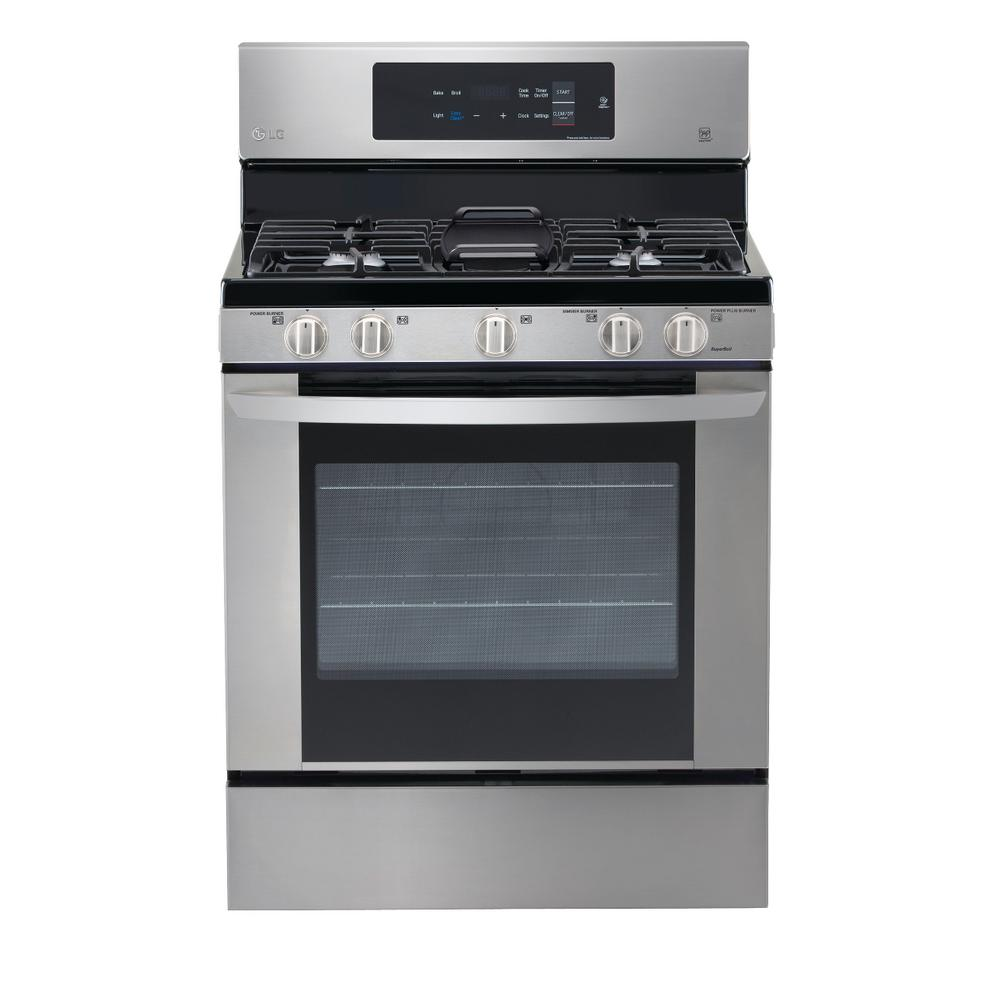 LG Electronics 5.4 cu. ft. Gas Range with EasyClean in Stainless Steel, Silver was $899.0 now $583.2 (35.0% off)