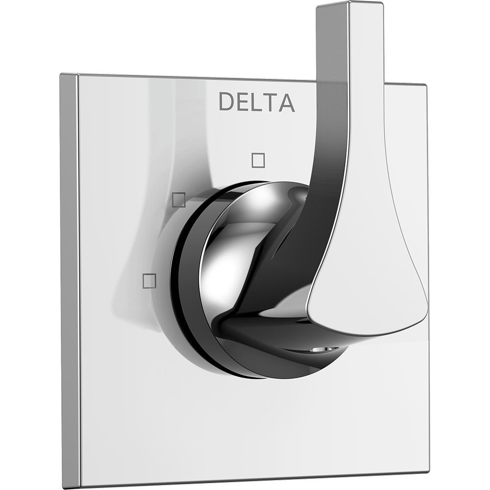 Delta Zura 1-Handle 3-Setting Diverter Valve Trim Kit in Chrome (Grey) (Valve Not Included)