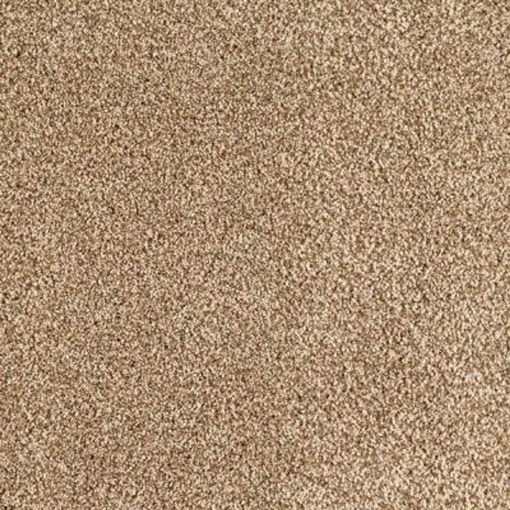 Carpet Sample - Lavish I - Color Tan Wicker Texture 8