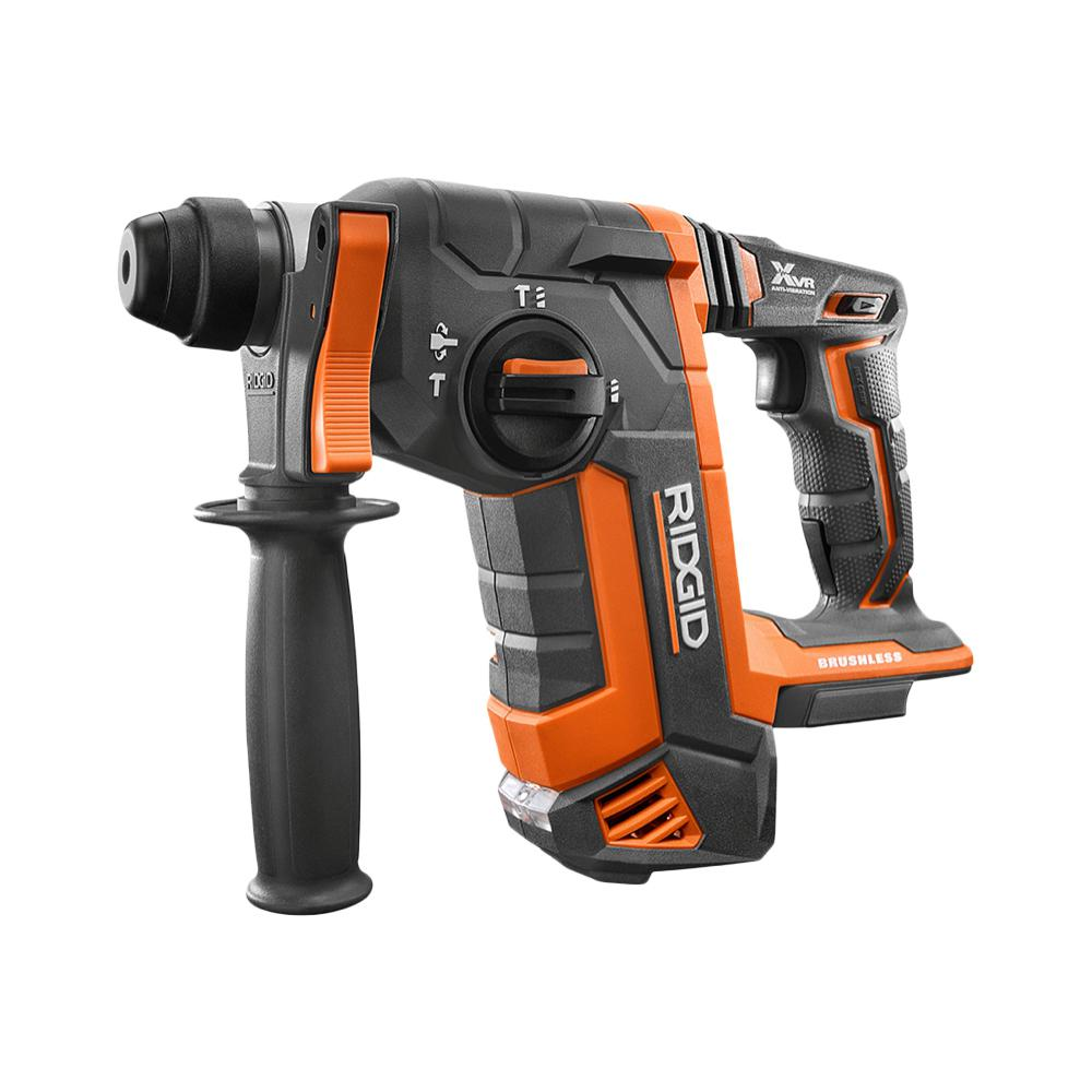 RIDGID 18-Volt OCTANE Cordless Brushless 1 in. SDS-Plus Rotary Hammer (Tool Only)