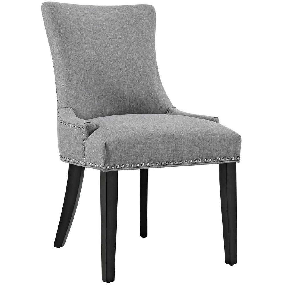 modway marquis light gray fabric dining chair eei 2229 lgr the home depot. Black Bedroom Furniture Sets. Home Design Ideas