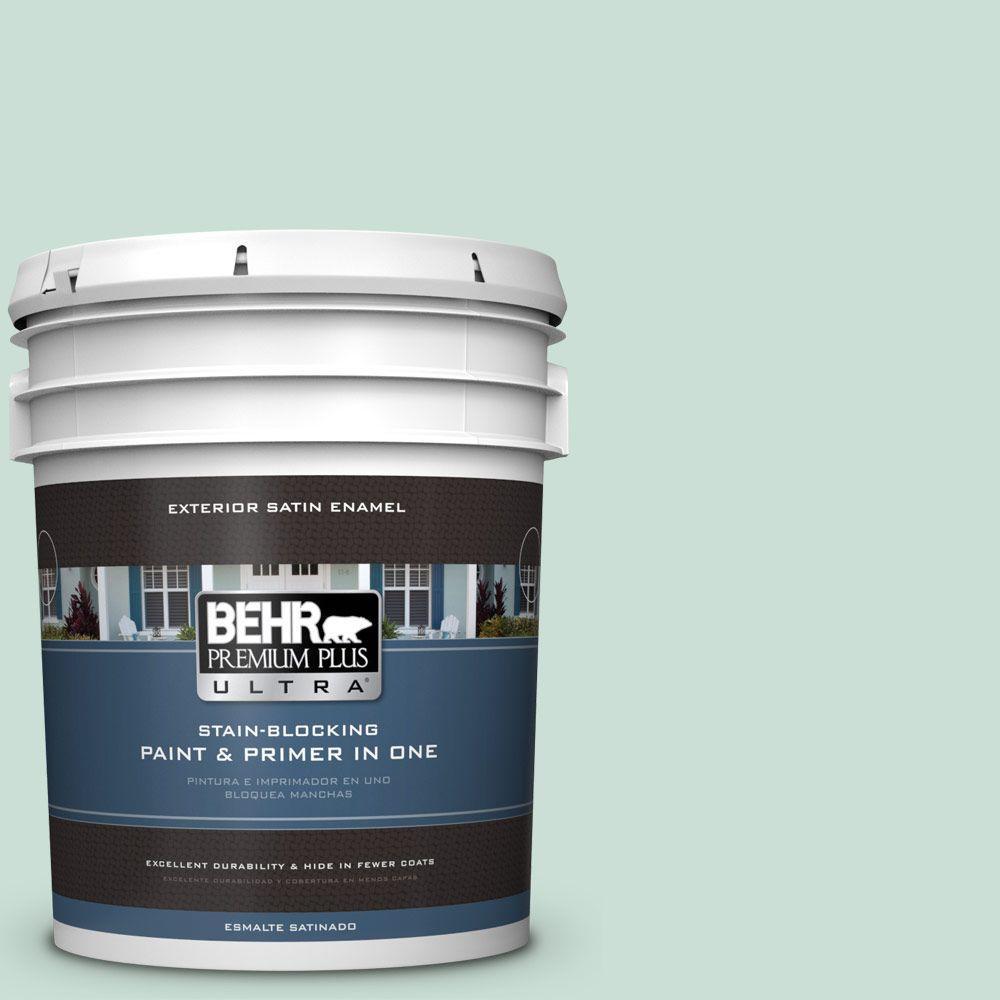 BEHR Premium Plus Ultra 5-gal. #M430-2 Ice Rink Satin Enamel Exterior Paint