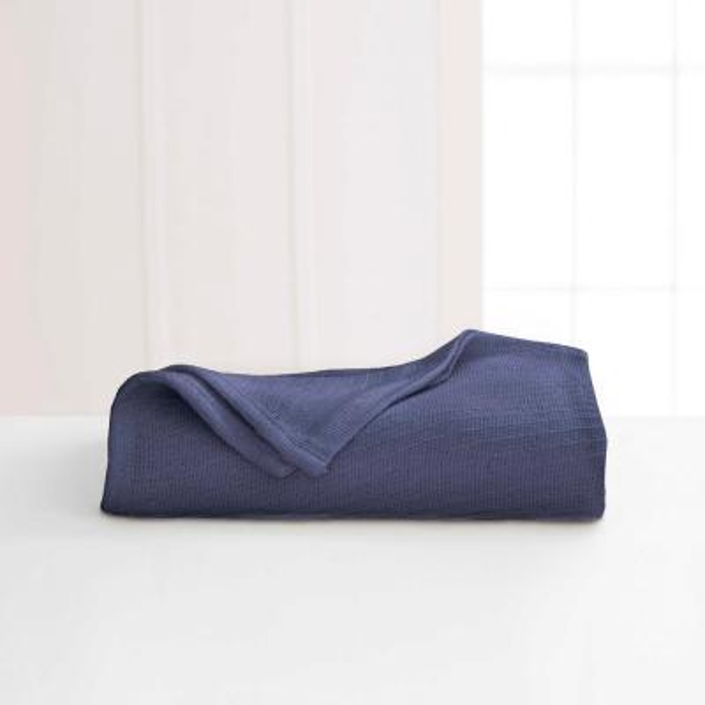 Blue Indigo Cotton Full/Queen Blanket