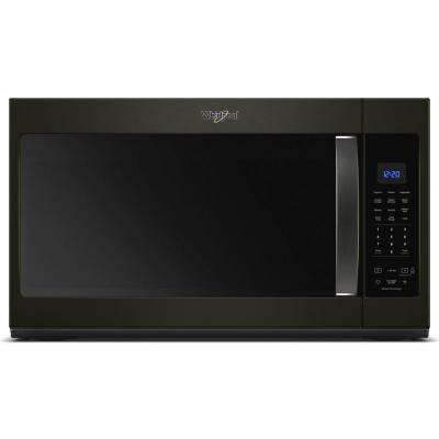30 in. W 1.9 cu. ft. Over the Range Microwave in Black Stainless with Sensor Cooking