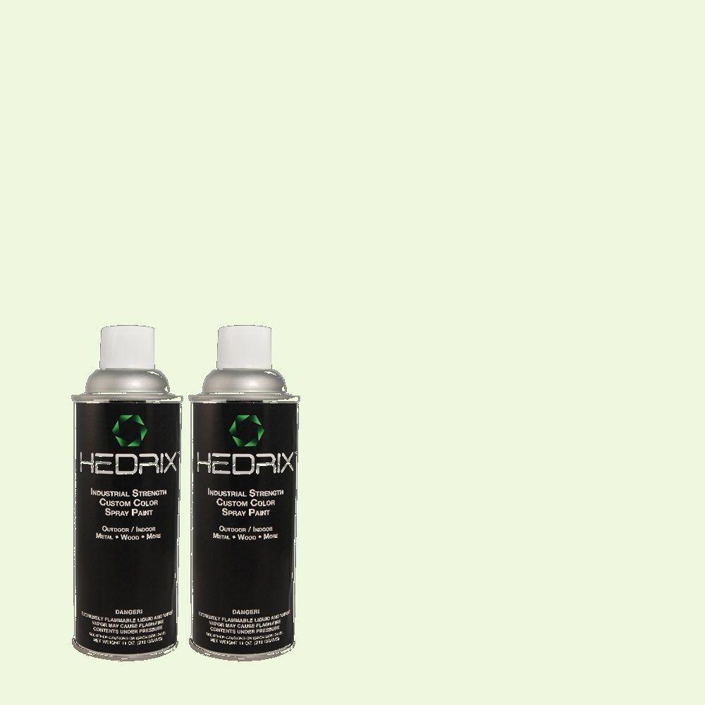 Hedrix 11 oz. Match of 1B55-1 Dainty Green Flat Custom Spray Paint (2-Pack)