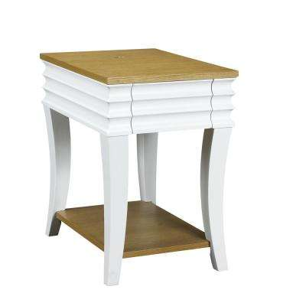 Haussman Bright White Chairside Table