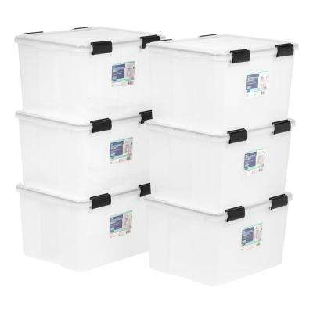 46-Qt. Weathertight Storage Box in Clear (6-Pack)