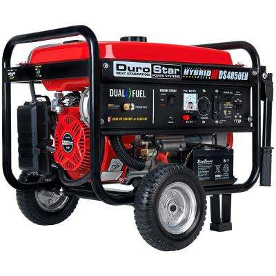 4850 / 3850 Watt Dual Fuel Hybrid Propane/Gasoline Powered Electric Start Portable Generator