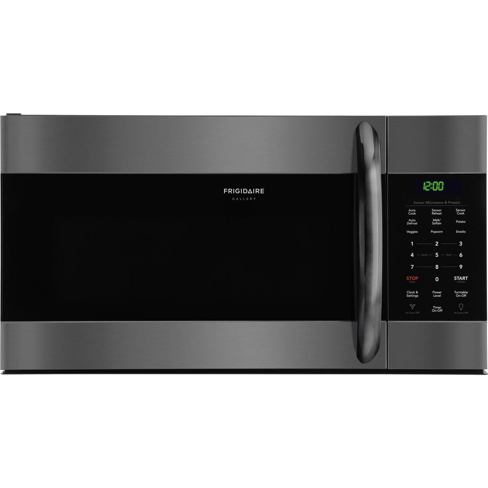 Frigidaire Gallery 1 7 Cu Ft Over The Range Microwave In Black Stainless Steel With