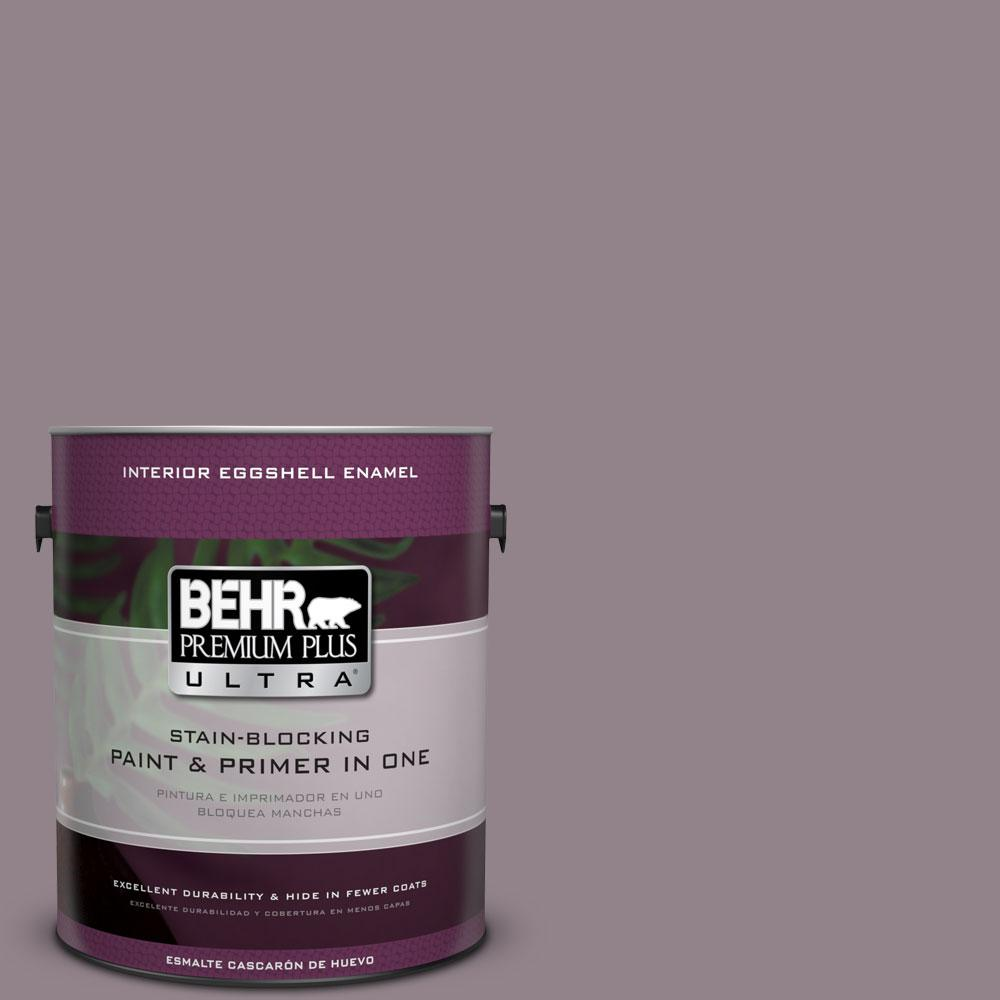 behr premium plus ultra gal n gothic purple eggshell  - n gothic purple eggshell enamel interior paint  the home depot