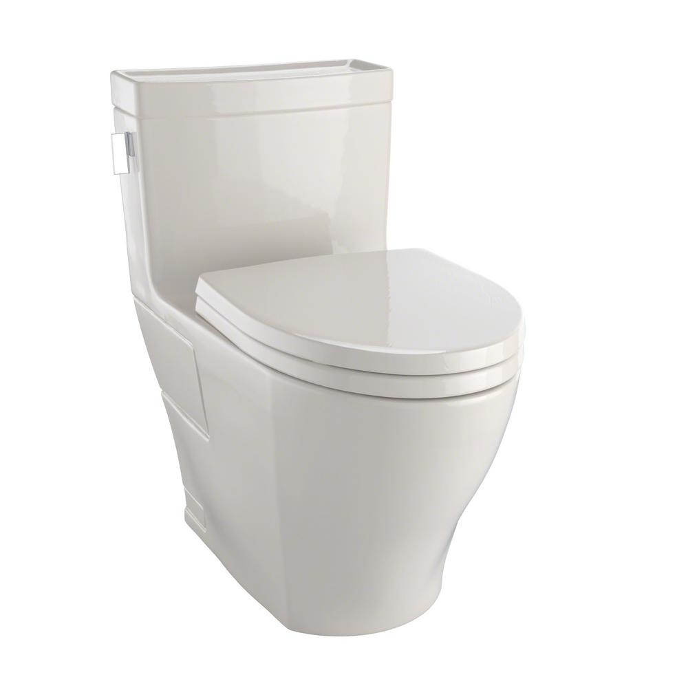 Toto Legato 1 Piece 1 28 Gpf Single Flush Elongated Skirted Toilet With