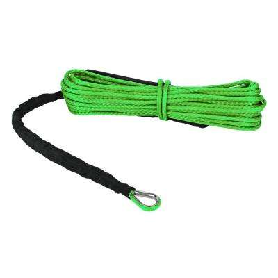 Devil's Hair in Synthetic ATV/UTV Winch Rope in Lime Green