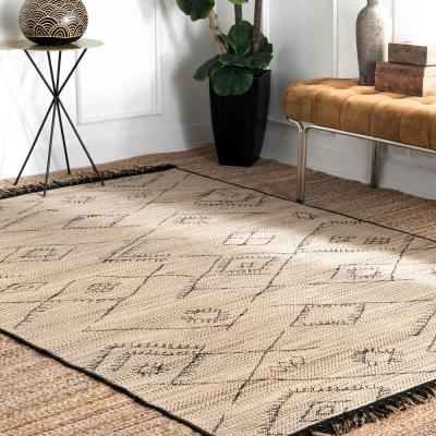 Norah Moroccan Ivory 5 ft. x 8 ft.  Indoor/Outdoor Area Rug