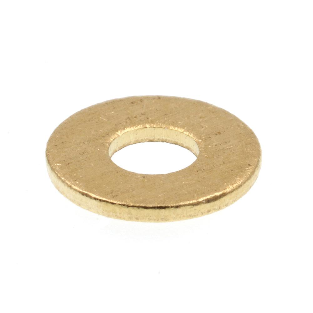Prime-Line #4 x 1/4 in. O.D. SAE Solid Brass Flat Washers (100-Pack)