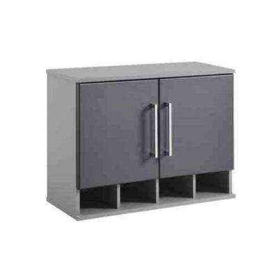 Latitude 20.9 in. H x 27.7 in. W x 11.7 in. D Wall Cabinet in Gray (1-Piece)