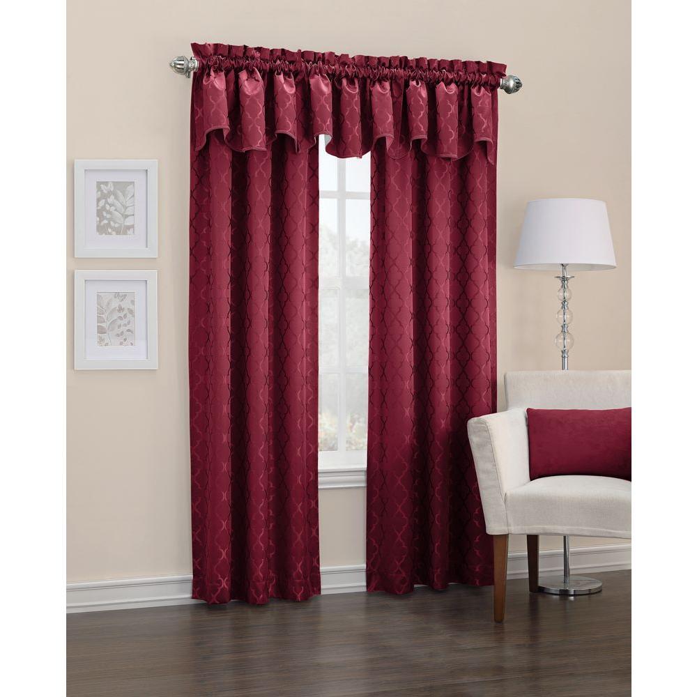 Burgundy Kitchen Curtains: Sun Zero Blackout Danvers Burgundy Thermal Lined Curtain