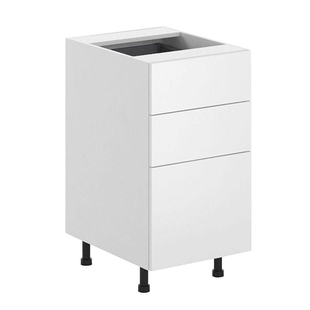 Ready to Assemble 18x34.5x24.5 in. Alexandria 3-Drawer Base Cabinet in White