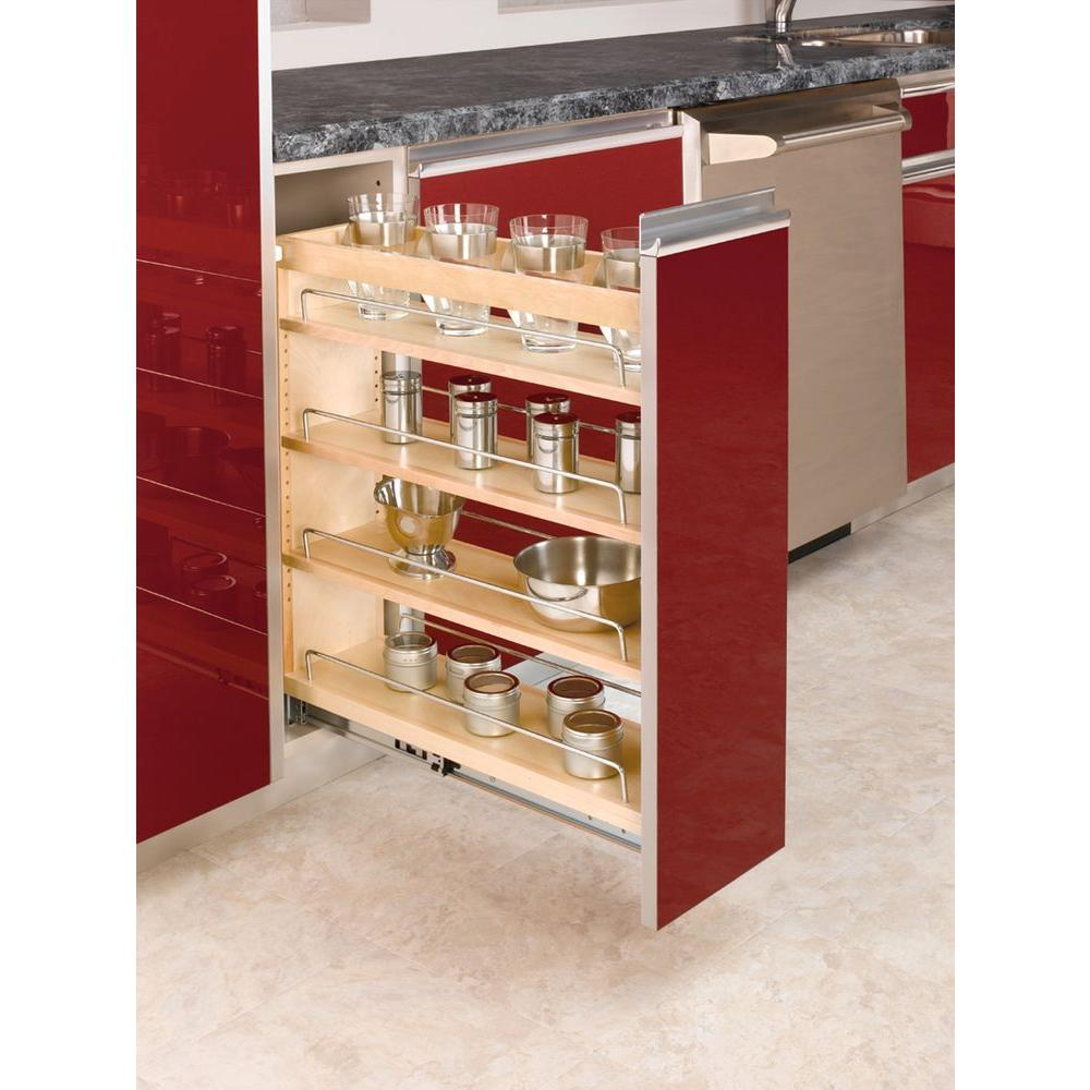 Rev A Shelf In H X In W X In D Pull Out Wood Base Cabinet Organizer 448 Bc