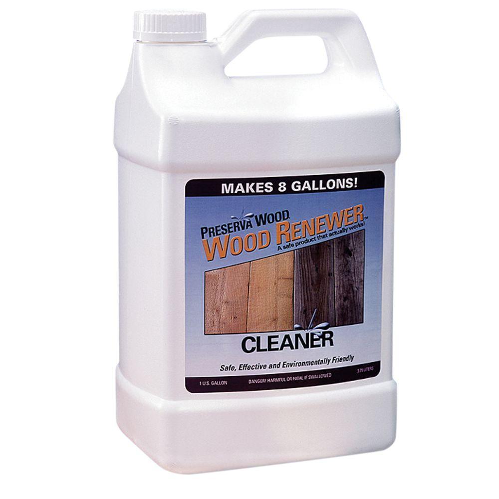 Preserva Wood 1 gal. Wood Cleaner Wood Renewer