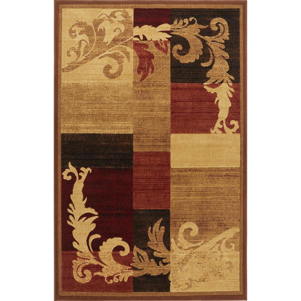 Home Dynamix Catalina Brown Red 8 Ft X 10 Indoor Area Rug