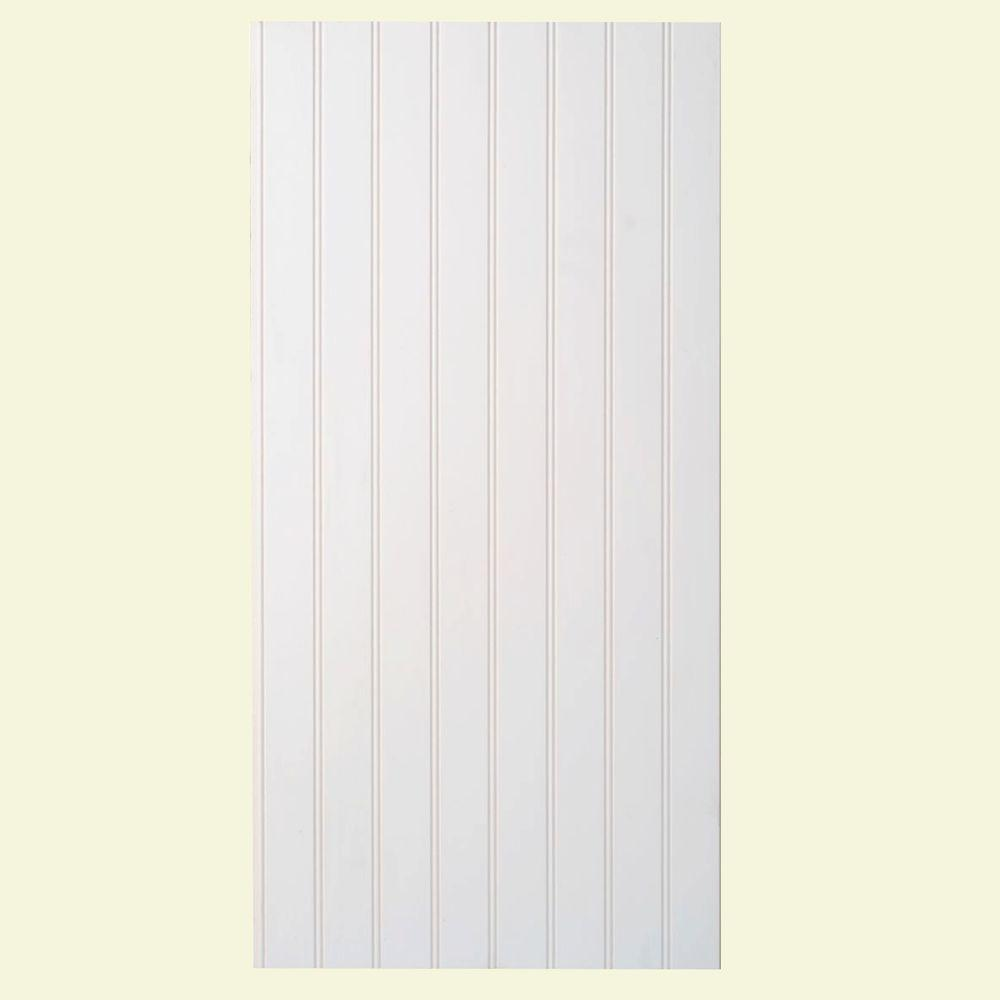 Marlite Supreme Wainscot 1/4 in. x 16 in. x 32 in. White HDF Tongue and Groove Wainscot Bead Board Panel (6-Pack)