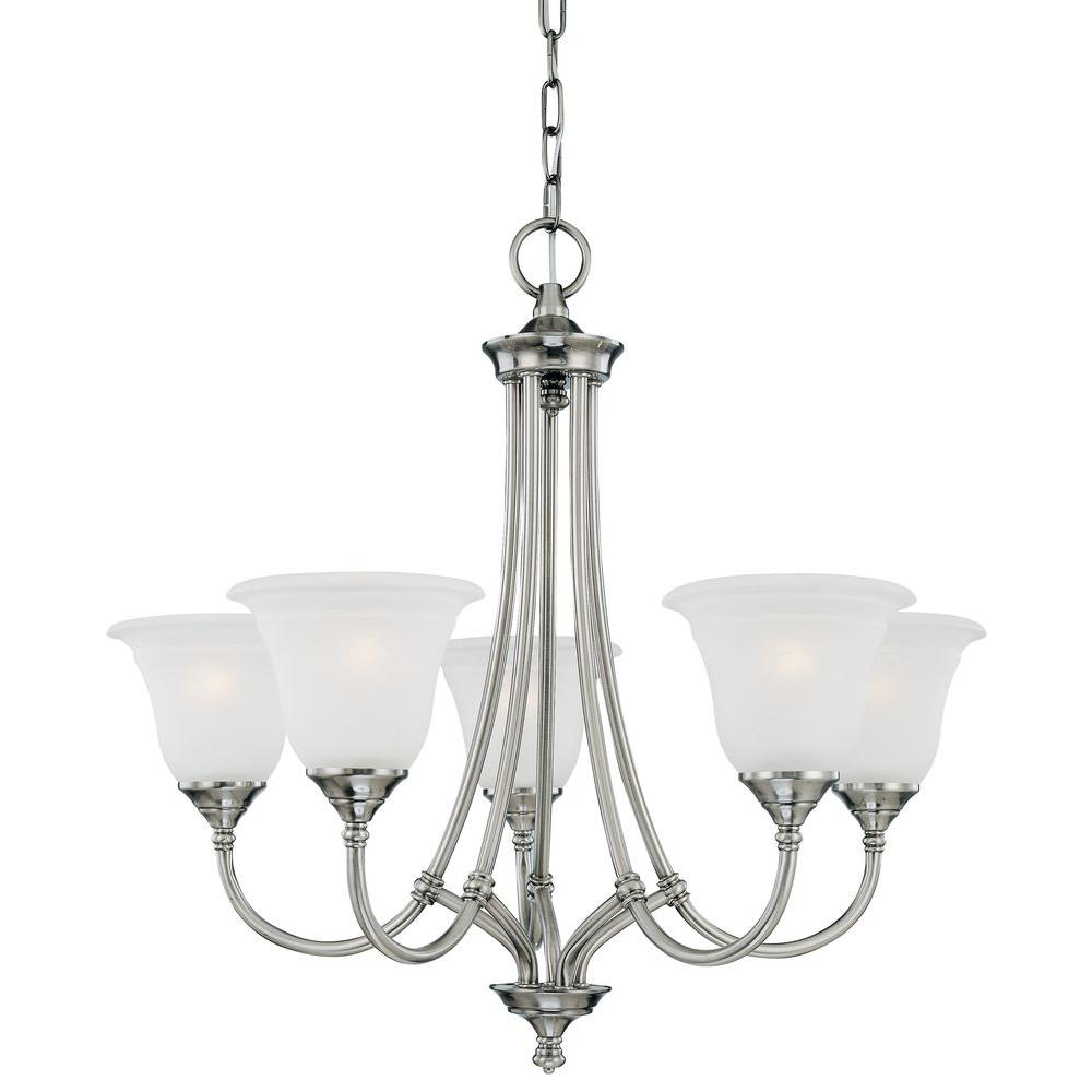 Thomas Lighting Harmony 5-Light Satin Pewter Chandelier