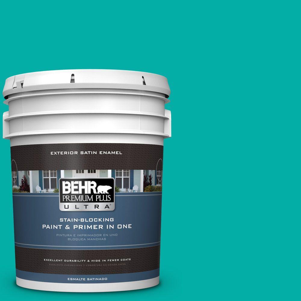 BEHR Premium Plus Ultra 5-gal. #490B-5 Cozumel Satin Enamel Exterior Paint
