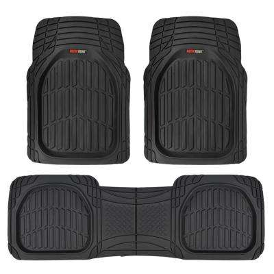 Deep Dish MT-923 Black Heavy Duty 3 Piece All Weather Rubber Car Floor Mats