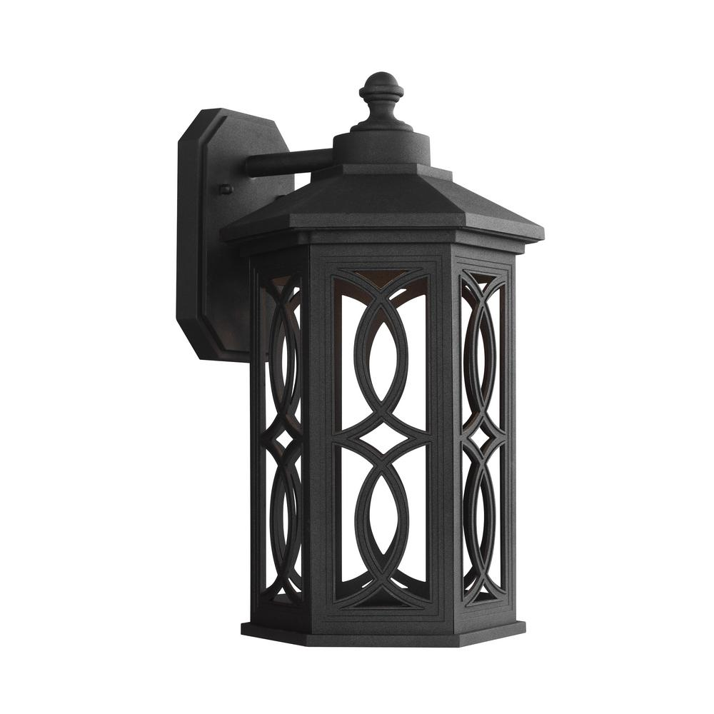 Ormsby 1-Light Black Outdoor Wall Mount Lantern