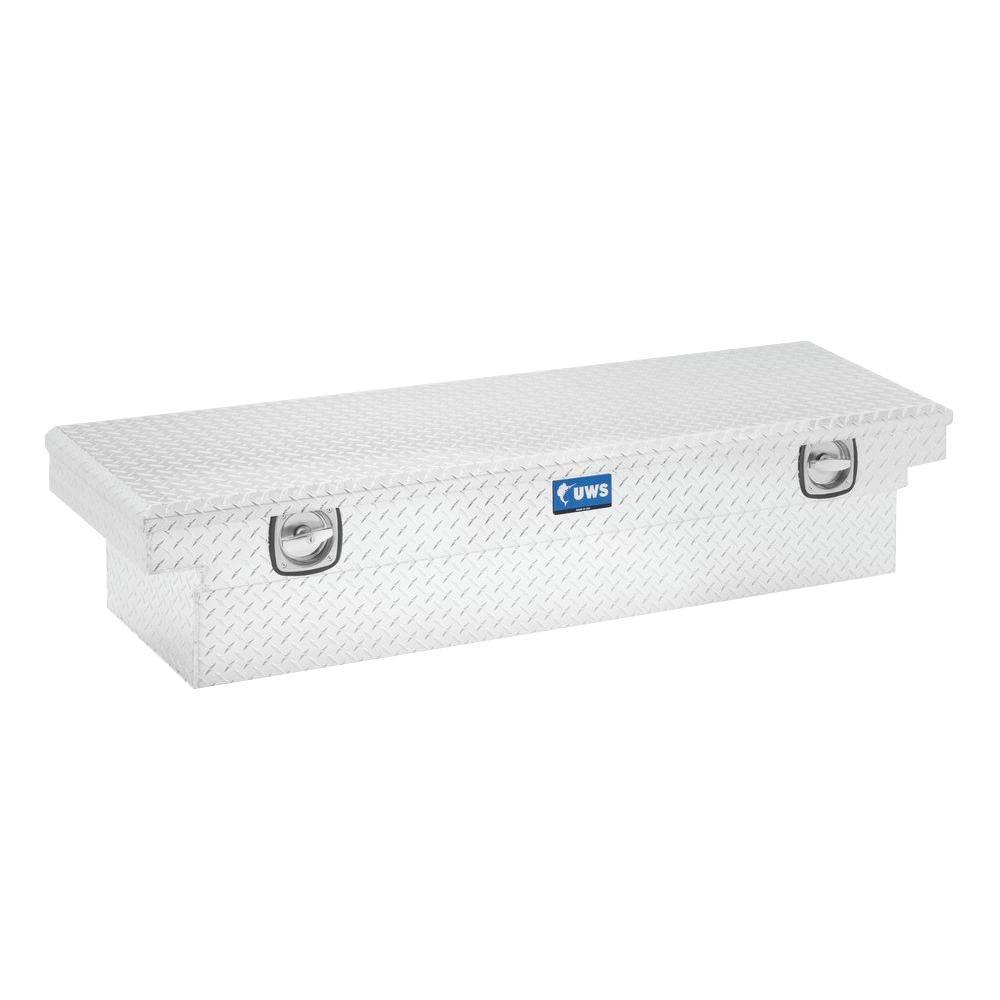 69 in. Aluminum Single Lid Secure Lock Deep Low Profile Crossover Toolbox