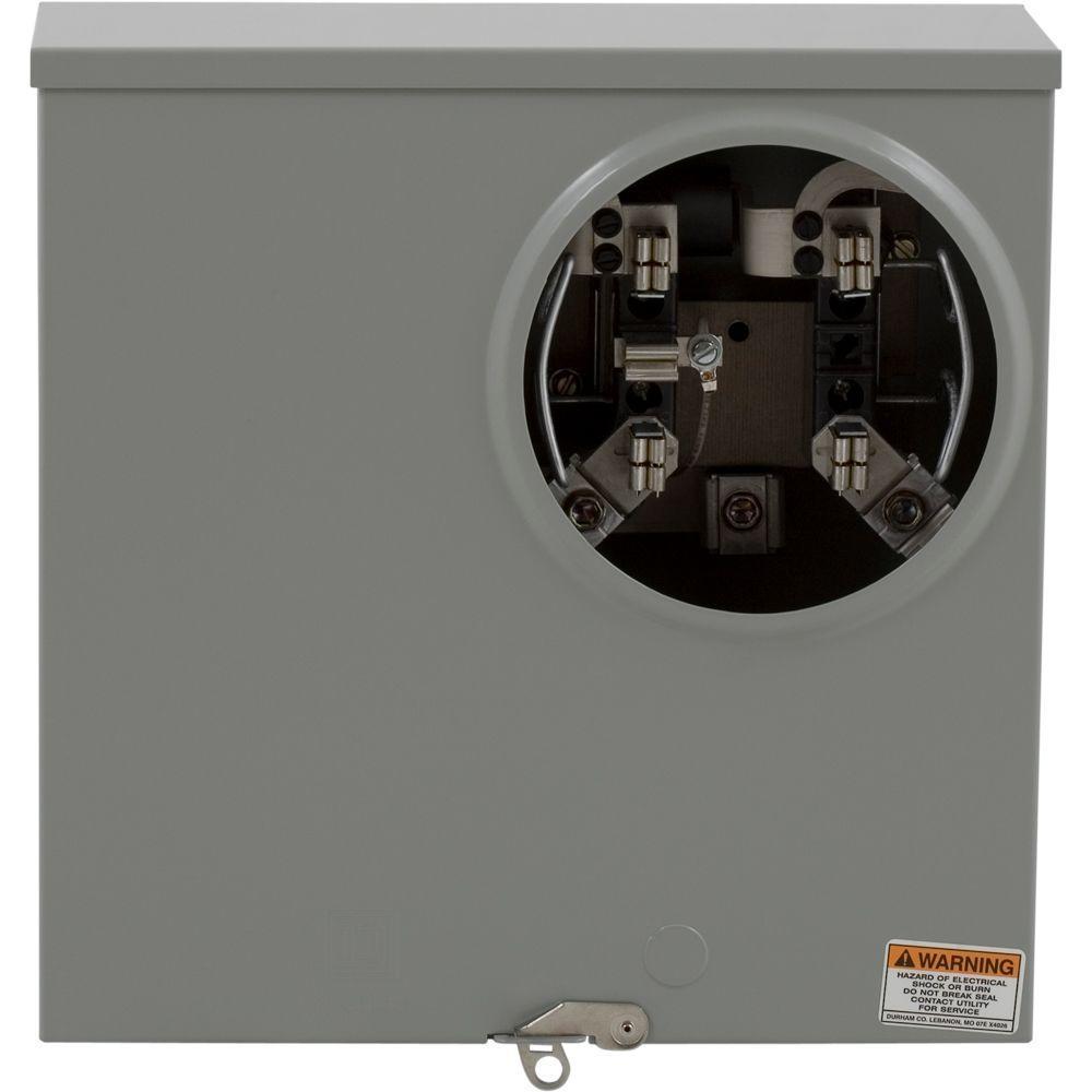 square d 200 amp ringless-horn bypass underground meter socket