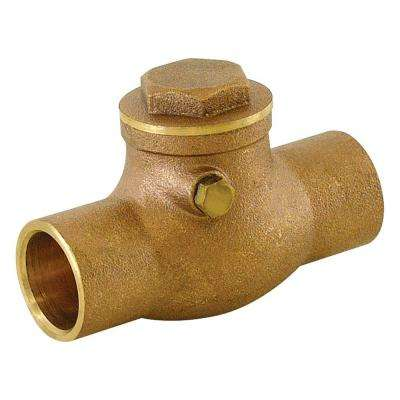 1 in. Brass C x C Sweat Swing Check Valve