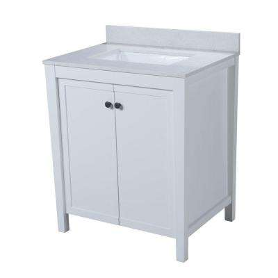 Tanya 30.5 in. W x 22 in. D Vanity in White with Quartz Vanity Top in White with White Basin