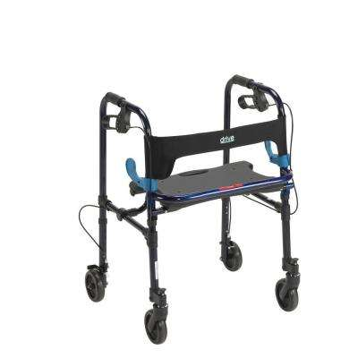 Clever Lite Rollator Walker with 5 in. Casters in Flame Blue