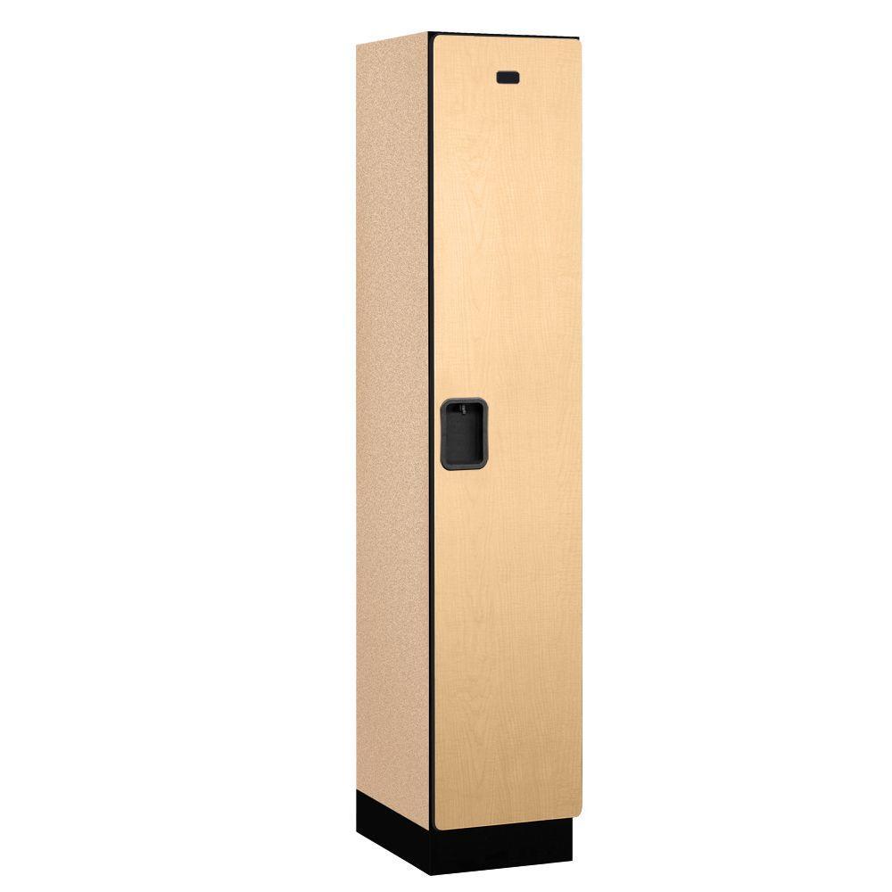 21000 Series 1-Tier Wood Extra Wide Designer Locker in Maple - 15 in. W x 76 in. H x 18 in. D
