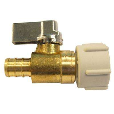 1/2 in. Brass PEX Barb x 1/2 in. Female Pipe Thread Swivel Ball Valve