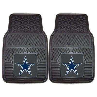 NFL - Dallas Cowboys Heavy Duty 2-Piece 18 in. x 27 in. Vinyl Car Mat