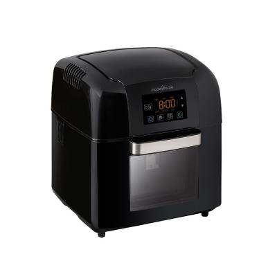 Premium 10 Qt. Black Digital Air Fryer Oven with Rotating Rotisserie, Multiple Racks, and Recipe Book