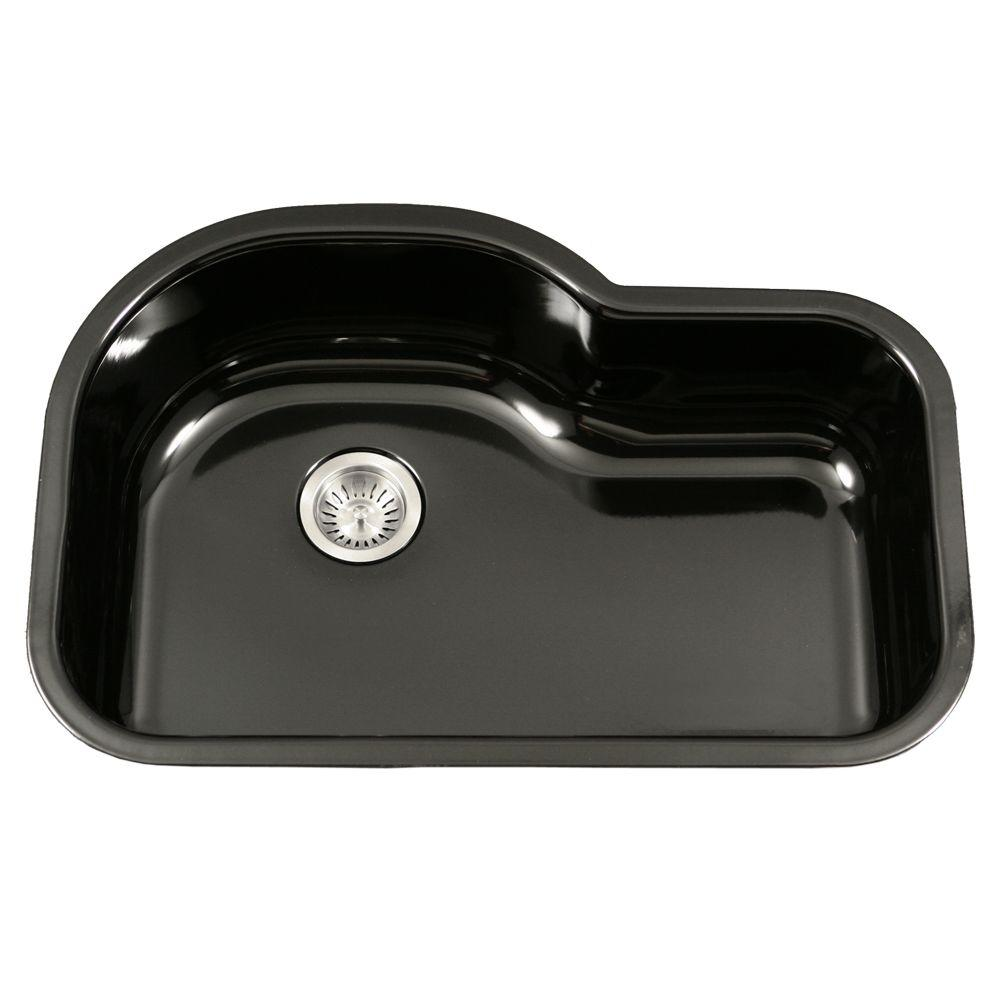espresso undermount single sink in kitchen