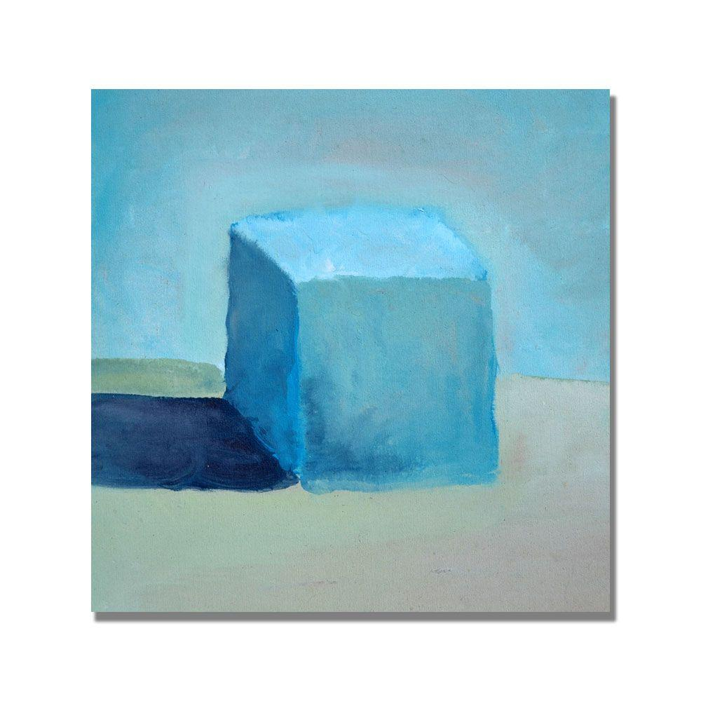 35 in. x 35 in. Blue Cube Still Life Canvas Art