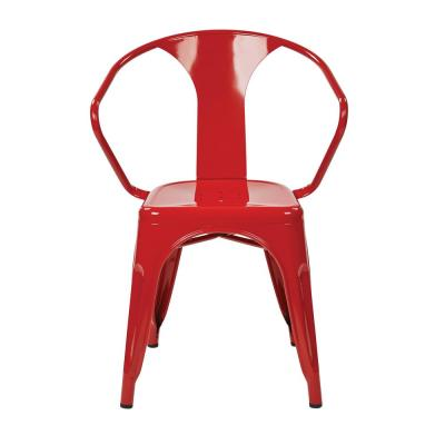 Patterson Red Metal Chair (Set of 2)