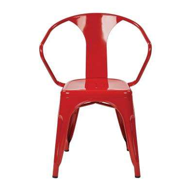 Patterson Red Metal Chair (2-Pack)
