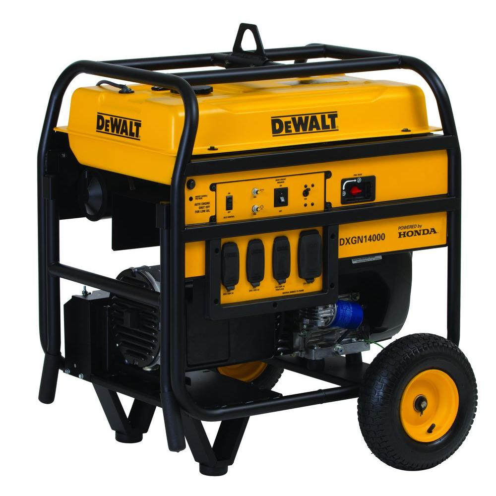 Dewalt 11700-Watt Gasoline Powered Electric Start Portable Generator with Honda Engine and Portability Kit