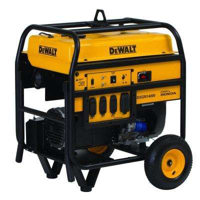 11700-Watt Gasoline Powered Electric Start Portable Generator with Honda Engine and Portability Kit