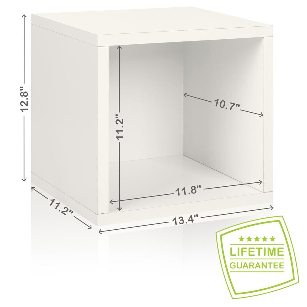 Way Basics Eco Stackable ZBoard 11.2 X 13.4 X 12.8 Tool Free Assembly Storage  Cube Unit Organizer In Pearl White BS 285 340 320 WE   The Home Depot