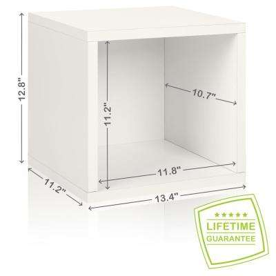 Eco Stackable ZBoard 11.2 X 13.4 X 12.8 Tool Free Assembly Storage Cube  Unit Organizer
