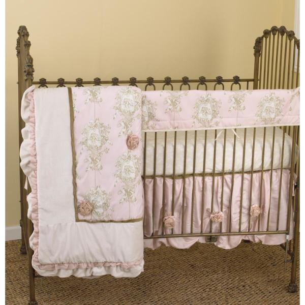 Lollipops and Roses Cotton Floral Front Crib Rail Cover Up