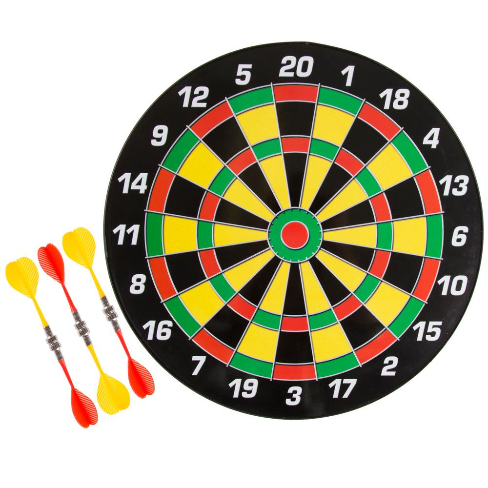 Hey Play 16 In Magnetic Dart Board Set Hw3400001 The Home Depot